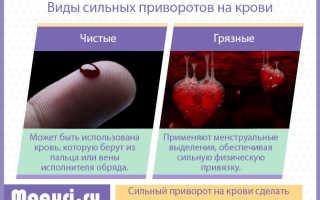Приворот на крови